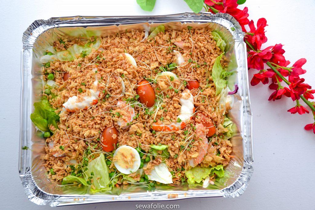 very tasty seafood salad