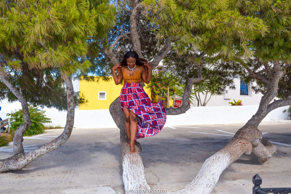 black girl in Greece