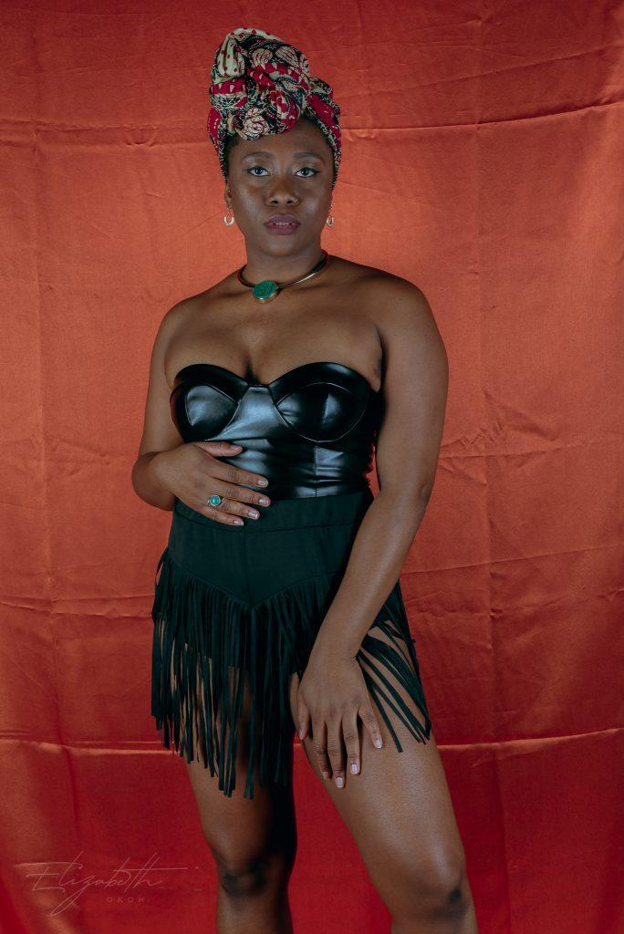 femme luxe PU crop top