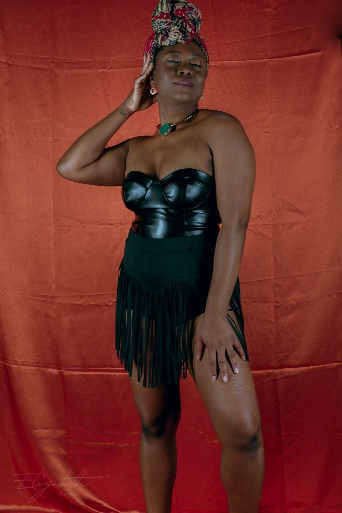 femme luxe PU corset top